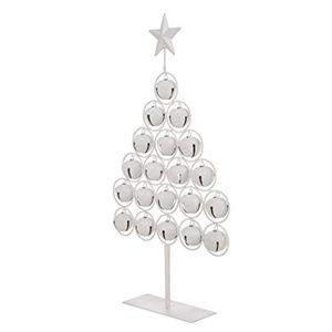 🎄NEW! Christmas White Bell Table Tree Metal Decor